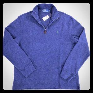 Polo Ralph Lauren Quarter 1/4 Zip Sweater Blue